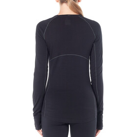 Icebreaker W's 200 Zone LS Crewe Shirt Black/Mineral